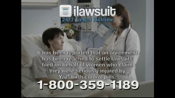 iLawsuit Legal Hotline TV Spot, 'Yaz' - Thumbnail 4