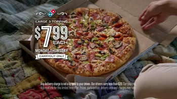 Domino's Pizza TV Spot,  'Weeknights Powered by Pizza' - Thumbnail 10