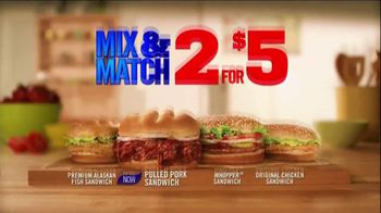 Burger King Pulled Pork Sandwich TV Spot, '2 for $5: What You're Craving' - Thumbnail 2