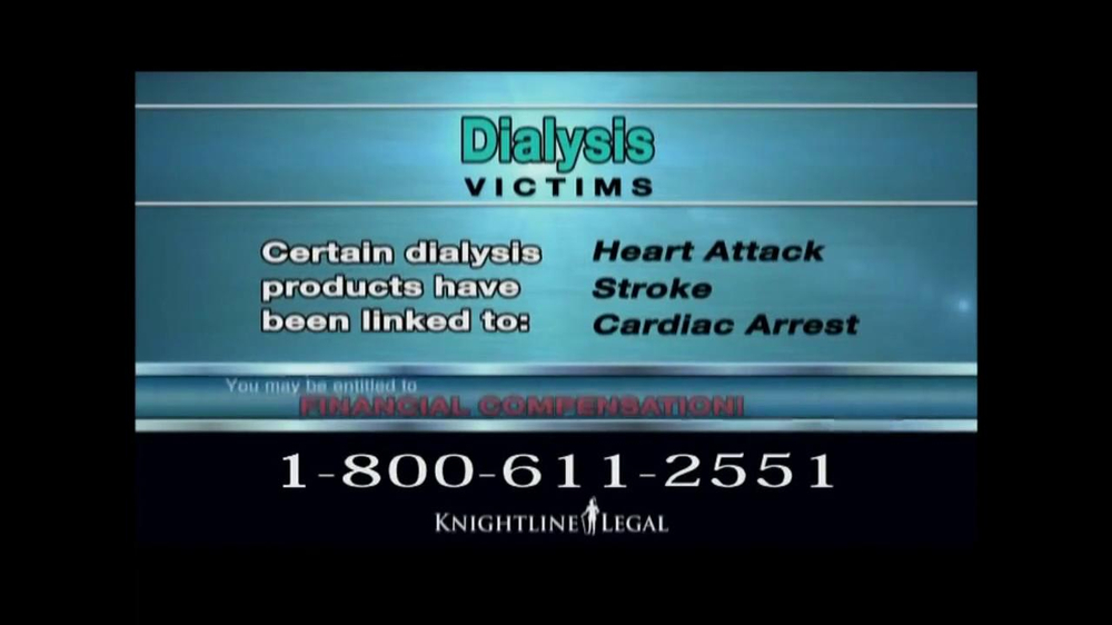 Pulaski Law Firm >> Knightline Legal TV Commercial, 'Dialysis Victims' - iSpot.tv