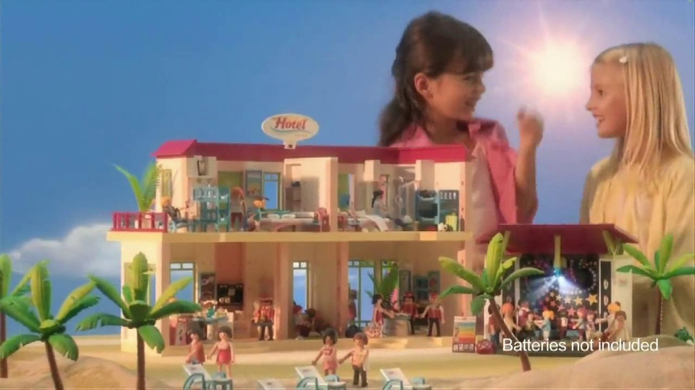 playmobil summer fun grand hotel tv spot. Black Bedroom Furniture Sets. Home Design Ideas