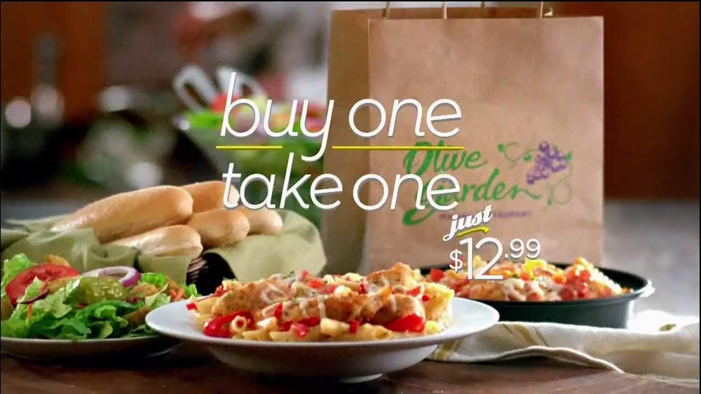 Olive garden never end pasta bowl tv commercial 39 buy one take one 39 What time does the olive garden close