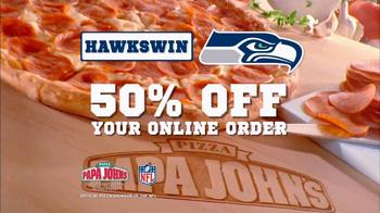Papa John's TV Spot, 'Seahawks Win' - Thumbnail 4