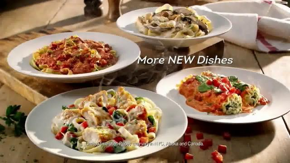 Olive Garden Tuscan Dinner Tv Commercial 39 More New Dishes 39
