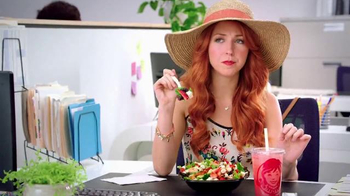 Wendy's Strawberry Fields Chicken Salad TV Spot, 'Office in a Summer Field' - 1877 commercial airings