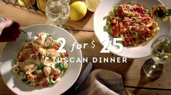 Olive Garden Tuscan Dinner Tv Commercial 39 Dinner For Two 39