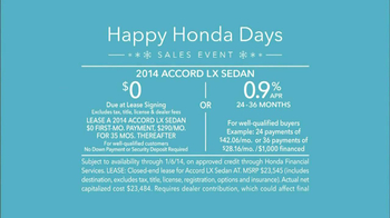 Honda Happy Honda Days: Accord TV Spot, 'Cue the Bolton' Ft. Michael Bolton - Thumbnail 10