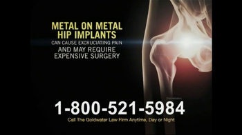 Goldwater Law Firm TV Spot, 'Hip Replacement'