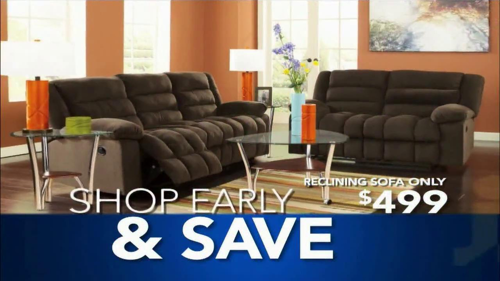 Ashley furniture homestore greatest sale in history v spot for Furniture u save a lot