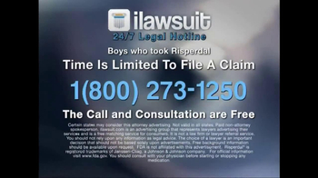 iLawsuit Legal Hotline TV Spot, 'Risperdal' - Thumbnail 10