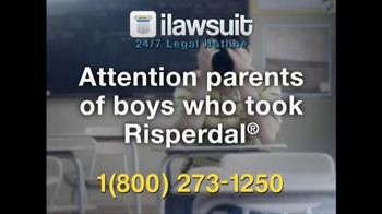 iLawsuit Legal Hotline TV Spot, 'Risperdal' - Thumbnail 2