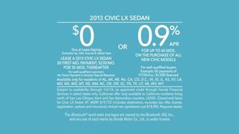 2013 Honda Civic LX TV Spot, 'Clock is Ticking' Ft. Michael Bolton - Thumbnail 9