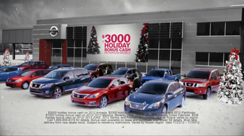 Nissan Season to Save TV Spot, 'Holiday Bonus Cash' - Thumbnail 3