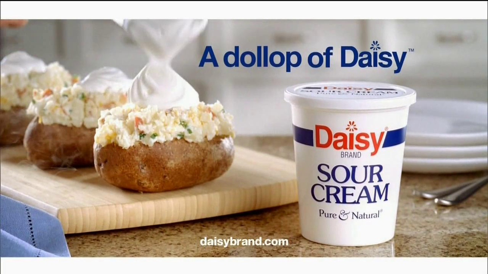 daisy sour cream tv commercial, ' percent'  ispot.tv, Beautiful flower