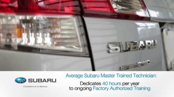 Subaru Service TV Spot, 'The Best' - Thumbnail 8
