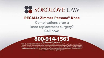 Pulaski Law Firm >> Sokolove Law TV Commercial, 'Zimmer Persona Recall' - iSpot.tv
