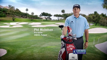 Enbrel TV Spot \'Everyday Activities\' Featuring Phil Mickelson