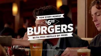 Applebee's Monday Night Burger Night TV Spot, 'Look Forward to Mondays'
