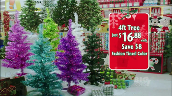 Big Lots TV Spot, 'Artifical Trees' - 326 commercial airings