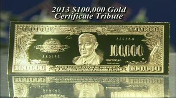 100,000 Gold Certificate Tribute TV Spot