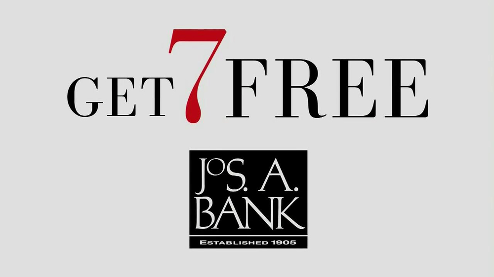 jos a bank tv commercial 39 buy one get 7 free suit 39. Black Bedroom Furniture Sets. Home Design Ideas