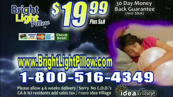 Bright Light Pillow Infomercial, 'Afraid of the Dark'