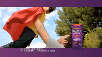 Children's Allegra Alergy TV Spot, 'Superhero' - Thumbnail 6