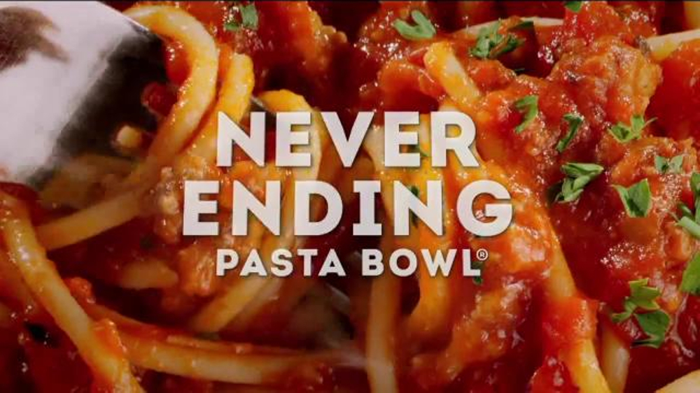 Olive garden never ending pasta bowl tv commercial 39 back - What time does the olive garden close ...