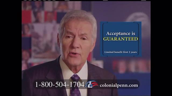Colonial Penn TV Spot, 'Rate Lock Guareenteed' Featuring Alex Trebek