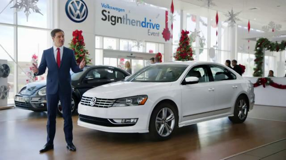 volkswagen sign  drive event tv commercial holiday season   ispottv