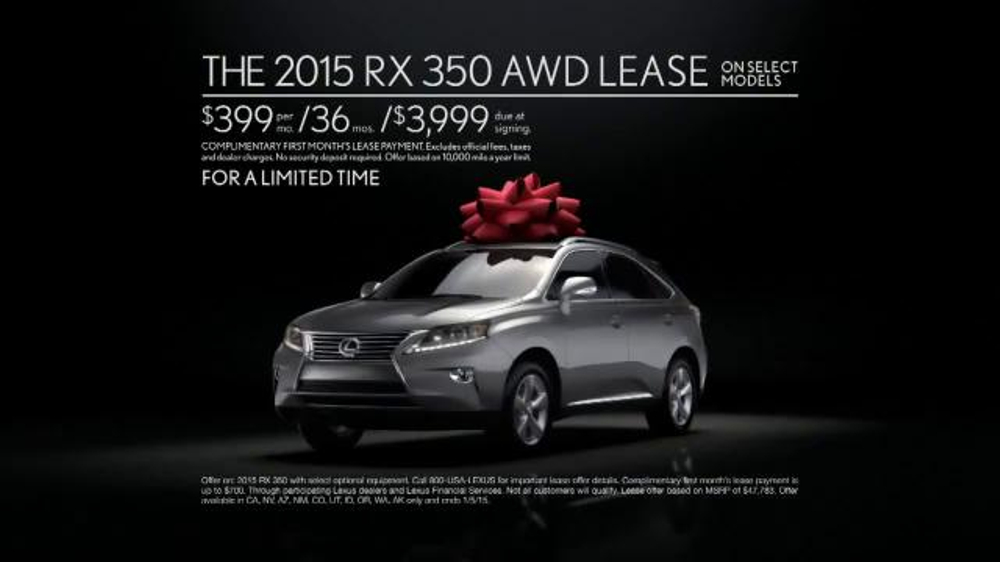 2015 Lexus RX 350 December to Remember Sales Event TV ...