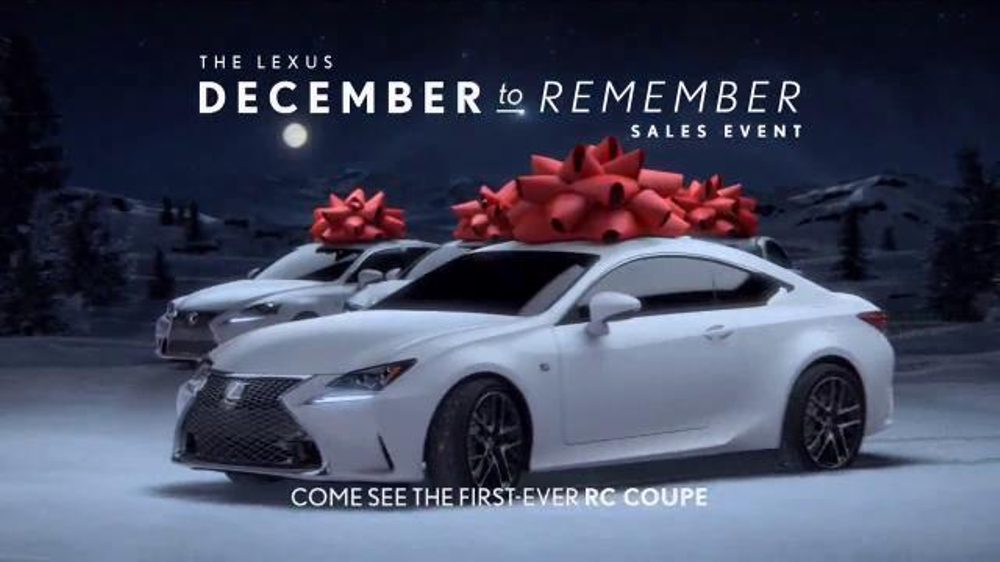 Lexus December To Remember 2018 >> Lexus December to Remember Sales Event TV Commercial, 'Christmas Train' - iSpot.tv