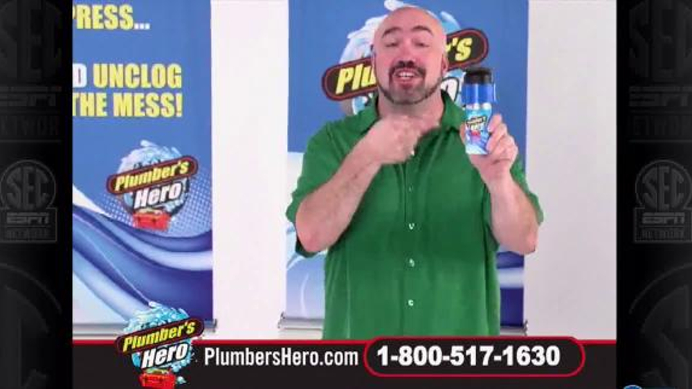 Plumber S Hero Drain Cleaner Tv Commercial Unclog The