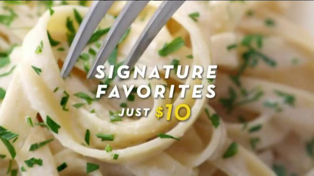 Olive Garden Signature Favorites Tv Commercial 39 Just 10 39