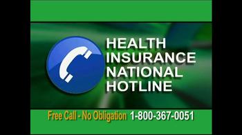 Health Insurance National Hotline TV Spot