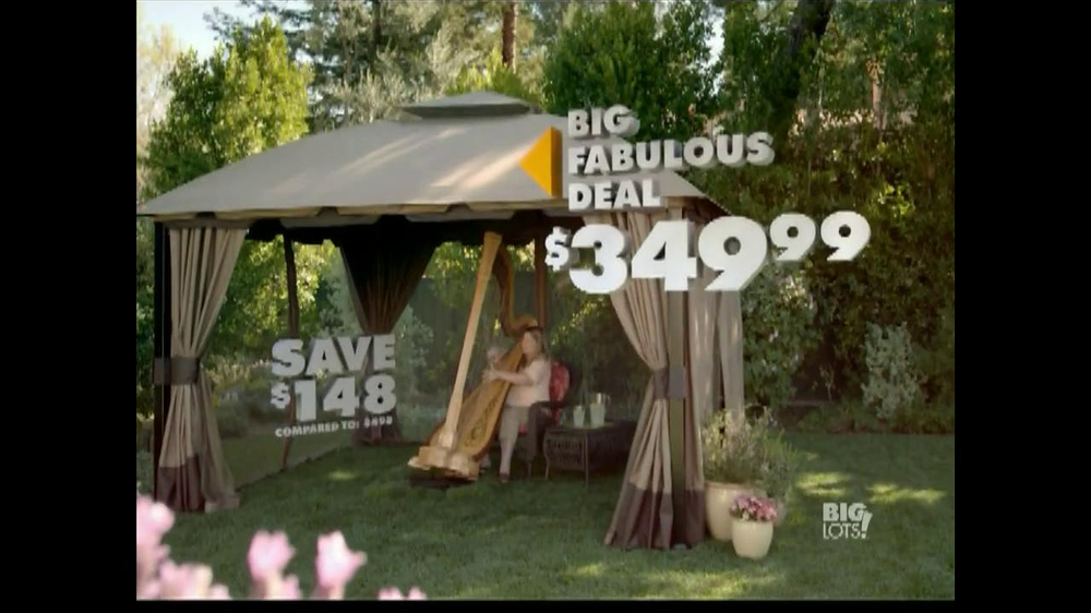 Big Lots TV Commercial Big Fabulous Deal Gazebo iSpottv