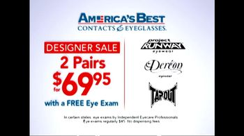 America's Best Contacts and Eyeglasses TV Spot 'Designer Sale' - Thumbnail 2