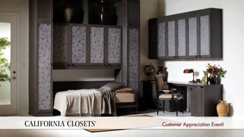 California Closets Customer Appreciation Event TV Spot