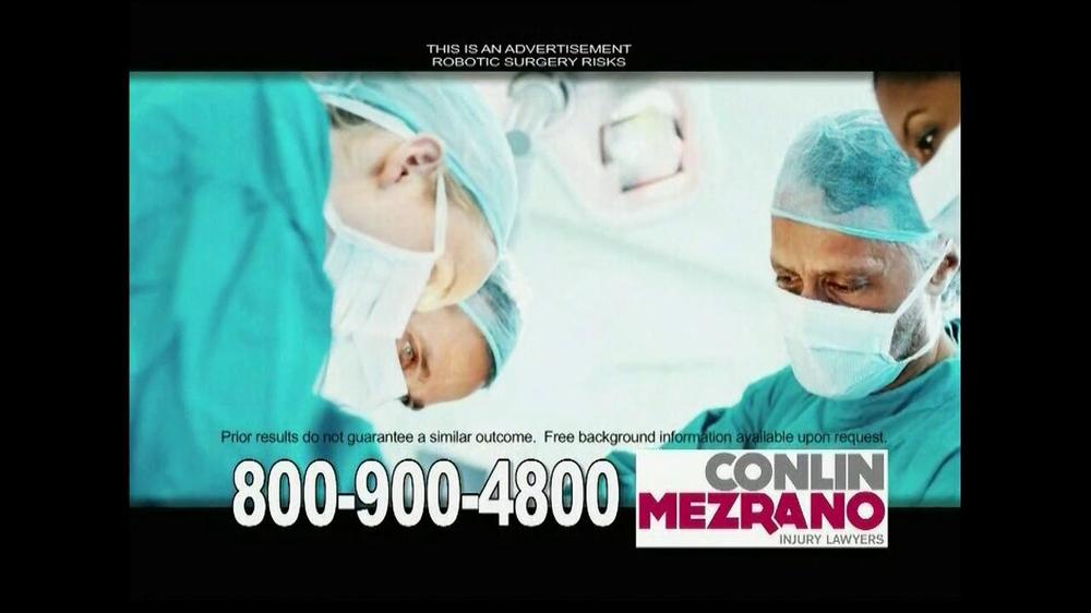 Pulaski Law Firm >> Conlin Mezrano Injury Lawyers TV Commercial, 'Robotic Surgery' - iSpot.tv