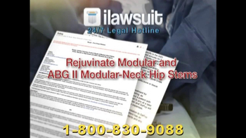iLawsuit Legal Hotline TV Spot, 'Hip Implant'