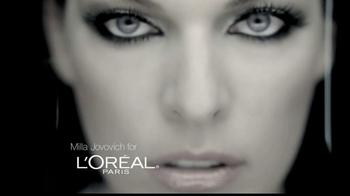 3202a68b6cb L'Oreal Voluminous False Fiber Lashes TV Spot Featuring Milla Jovovich -  Thumbnail ...