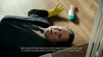 Allstate Home Insurance TV Spot, 'Mayhem: World's Worst Cleaning Lady' - Thumbnail 8