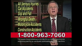 Lawyers Group TV Commercial, \u002639;Car Accident\u002639;  iSpot.tv