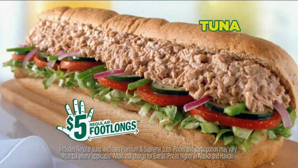 subway 5 regular footlongs tv commercial  ispottv
