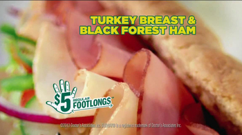 Subway $5 Regular Footlongs TV Spot  - Thumbnail 6