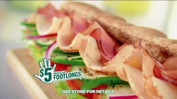 Subway $5 Regular Footlongs TV Spot  - Thumbnail 8