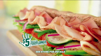 Subway $5 Regular Footlongs TV Spot  - Thumbnail 9