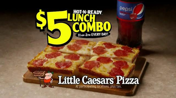 Little Caesars Pizza Hot-N-Ready Lunch Combo TV Spot, 'Busy People' - Thumbnail 10