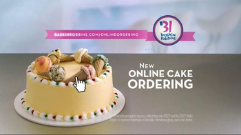 Baskin Robbins TV Spot Online Cake Ordering