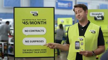 Straight Talk Wireless TV Spot, 'The World Needs More Straight Talk Event'
